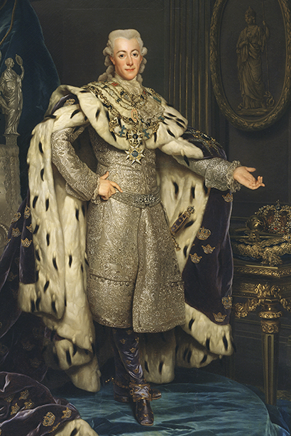 Gustav III, King of Sweden, dressed in his coronation attire